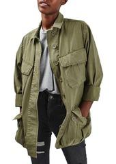 Topshop Oversize Army Shirt Jacket