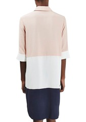 Topshop Oversize Colorblock Shirtdress (Regular & Petite)