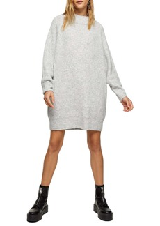 Topshop Oversize Long Sleeve Mini Sweater Dress