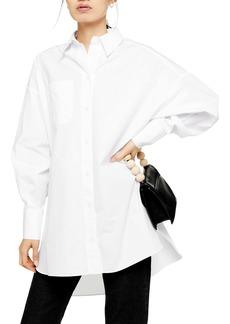 Topshop Oversize Poplin Shirt