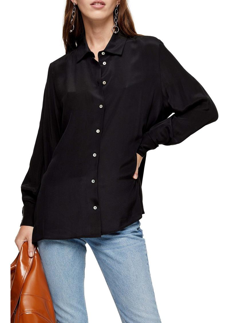 Topshop Oversize Silk Shirt