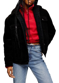 Topshop Oversized Corduroy Jacket
