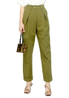 Topshop Ovoid Pleated Trousers