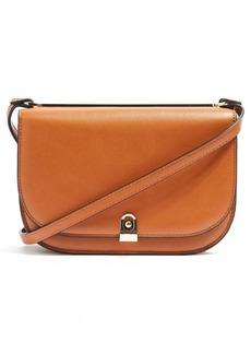 Topshop Oxford Faux Leather Crossbody Saddle Bag