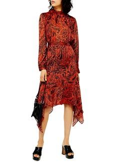 Topshop Paisley Print Handkerchief Hem Dress (Regular & Petite)