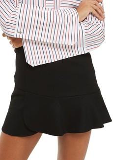Topshop Paneled Flippy Miniskirt