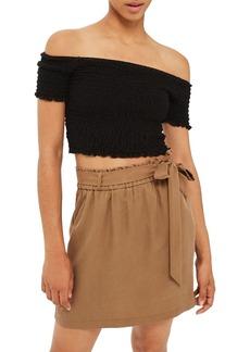 Topshop Paperbag Tie Waist Skirt