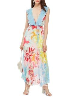 Topshop Paradise Plunge Maxi Dress
