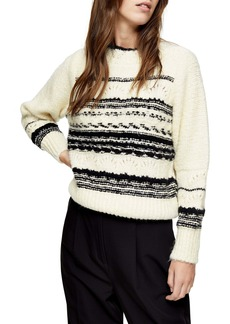 Topshop Pattern Crop Sweater