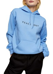 Topshop Peace Out Hoodie
