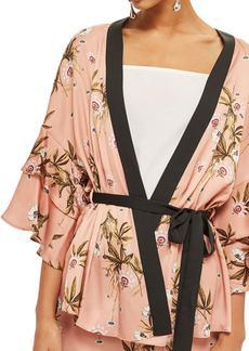 Topshop Penel Frill Floral Kimono