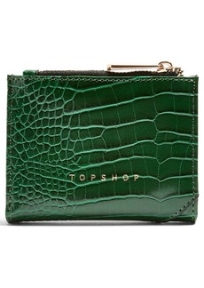 Topshop Penny Embossed Faux Wallet