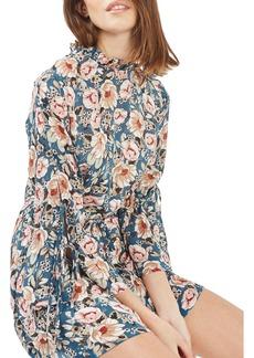Topshop Peony Print Tea Dress