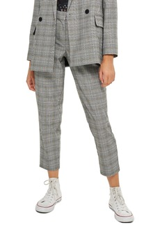 Topshop Petite Check Tapered Trousers