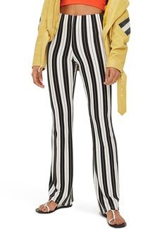 Topshop Petite Stripe Flare Pants (Regular & Petite)