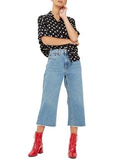 Topshop Petite Wide Leg Crop Jeans