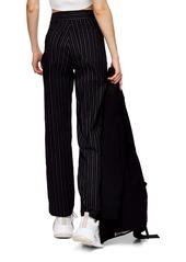 Topshop Pinstripe Straight Leg Bengaline Pants