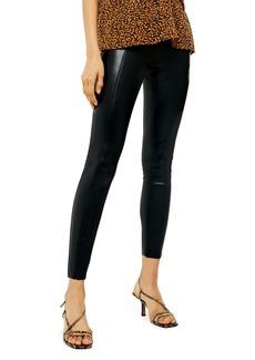 Topshop Piper Faux Leather Skinny Leggings (Regular & Petite)