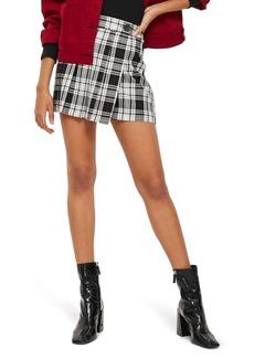 Topshop Plaid Kilt Miniskirt
