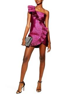 Topshop Plissé Frill Dress