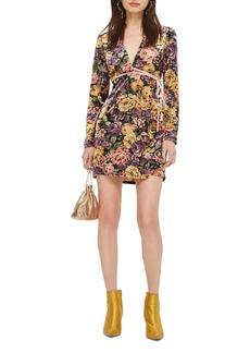 Topshop Plunge Floral Wrap Dress