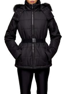 Topshop SNO Water Repellent Faux Fur Trim Ski Jacket