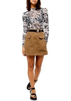 Topshop Pocket Clip Miniskirt