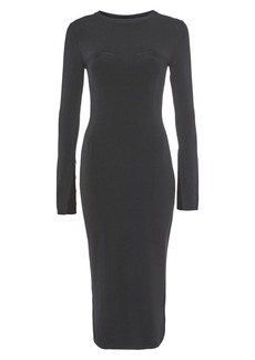 Topshop Pointelle Midi Dress