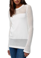 Topshop Pointelle Panel Sweater