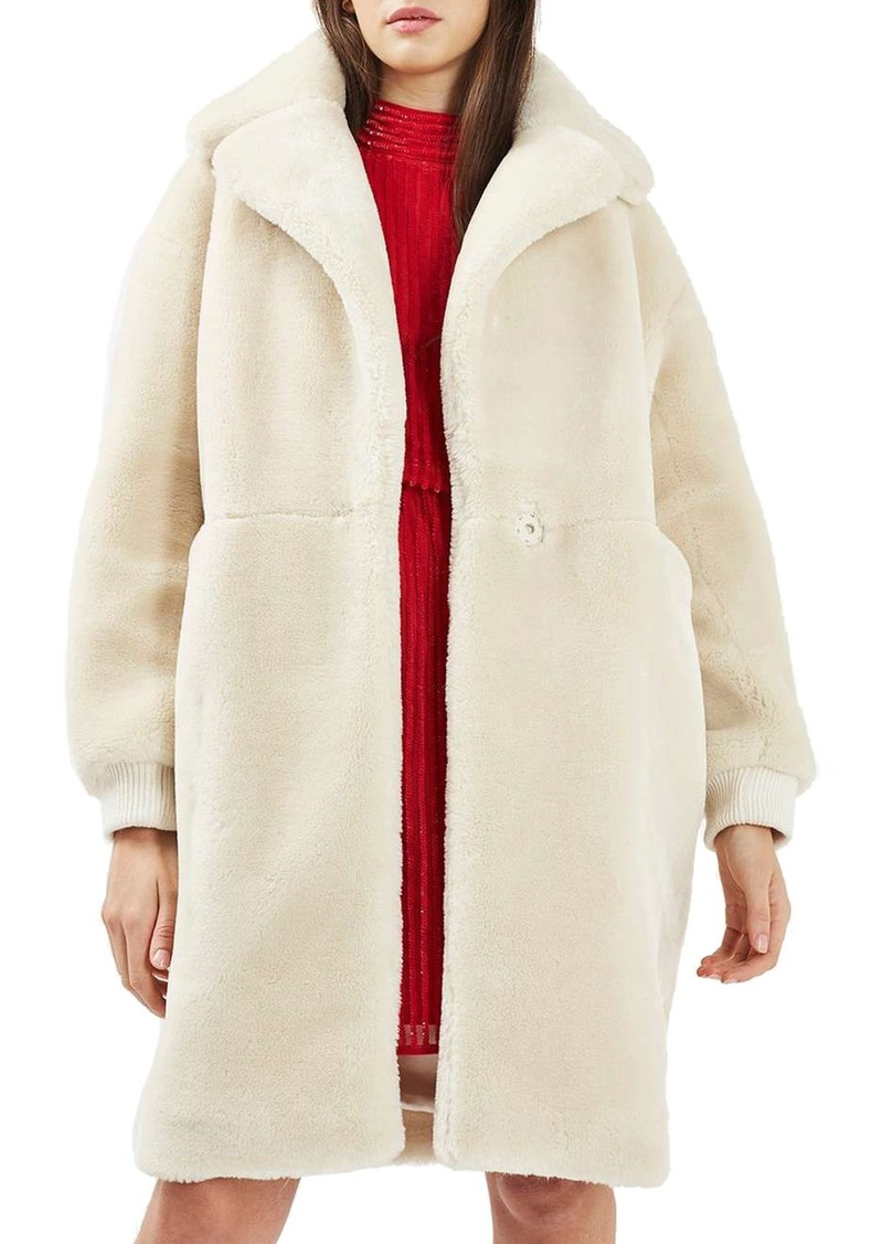 3634facdbc708 Topshop Topshop Polar Bear Faux Fur Coat