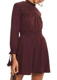 Topshop Polka Dot Shirred Waist Dress