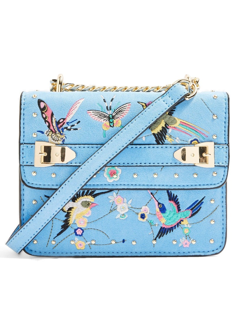 Topshop Polly Bird Embroidered Crossbody Bag