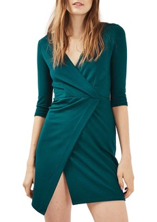 Topshop Ponte Faux Wrap Minidress