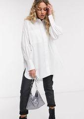 Topshop poplin shirt in white