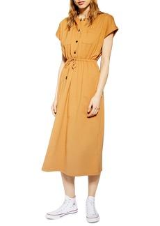 Topshop Popper Midi Dress