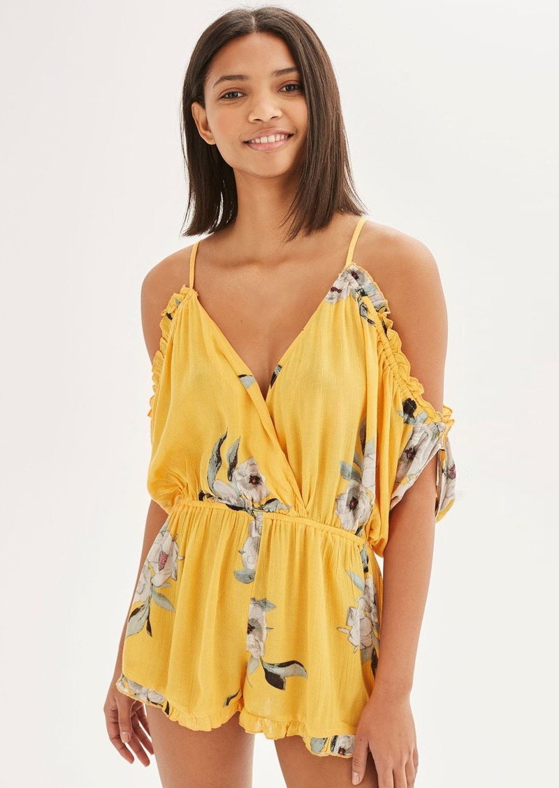 6592a722ed49 Topshop Topshop Posie Off the Shoulder Romper Now  28.98