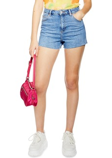 Topshop Premium Denim Mom Shorts
