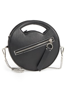 Topshop Premium Leather Mini Circle Crossbody Bag