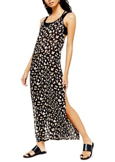 Topshop Printed Maxi Cover-Up Dress
