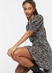 Topshop printed wrap dress in multi