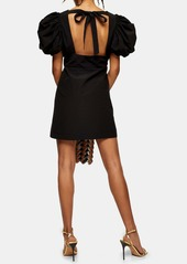 Topshop Puff Sleeve Minidress