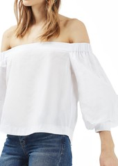 Topshop Puff Sleeve Off the Shoulder Top