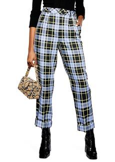 Topshop Punk Check Edie Peg Trousers