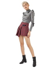 Topshop Punky Plaid Kilt Miniskirt