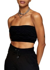 Topshop Quilted Bandeau Top