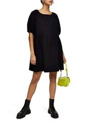 Topshop Quilted Mini Tea Dress