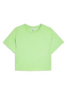 Topshop Raglan Crop T-Shirt (Regular & Petite)