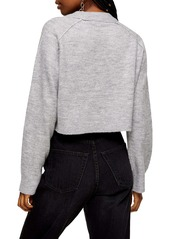 Topshop Raglan Sleeve Crop Sweater