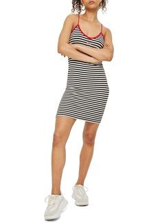 Topshop Rainbow Detail Stripe Body-Con Dress