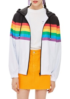 Topshop Rainbow Windbreaker